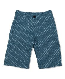 Pikaboo Shorts All Over Anchor Print - Blue