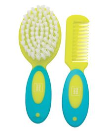 Mee Mee Soft Brush And Comb Set With Bear & Bunny Print - Green