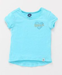 Vitamins Short Sleeves Tee Heart Design - Sky Blue
