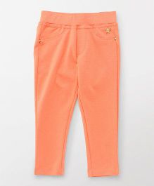 Vitamins Full Length Narrow Fit Jeggings - Peach
