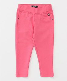Vitamins Full Length Narrow Fit Jeggings - Pink
