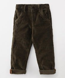 Little Kangaroos Full Length Trouser - Dark Olive Green