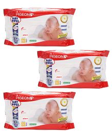 Pigeon Baby Wipes Chamomile 80 Sheets - Pack Of 3