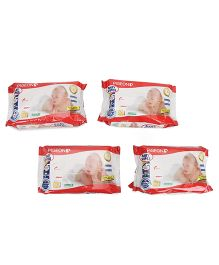 Pigeon Baby Wipes Chamomile 80 Sheets - Pack Of 4