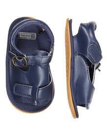 Little Hip Boutique Strap On Open Toe Sandals - Navy Blue