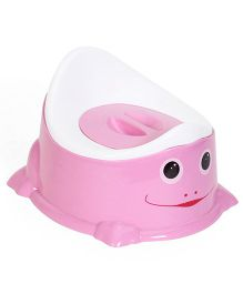 Baby Potty Seat With Lid - Pink White
