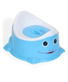 Baby Potty Seat With Lid - Blue White