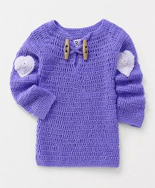 Richhandknits Full Sleeves Pullover Sweater - Purple