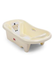 Baby Bath Tub Bear Print - Cream