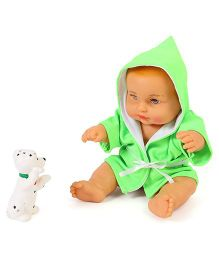 Speedage Sunny Baba Doll With Pet Puppy - Green