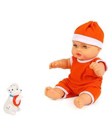 Speedage Sunny Baba Doll With Pet Puppy - Orange