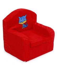 Lovely Sofa Chair Kitty Embroidery - Red