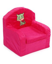 Lovely Sofa Chair Kitty Embroidery - Pink
