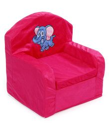 Lovely Sofa Chair Elephant Embroidery - Dark Pink