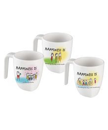 Servewell Symphony Mug Set Radiant Happiness Is Print - Set Of 3