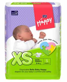 Bella Baby Happy Diapers Extra Small - 5 Pieces