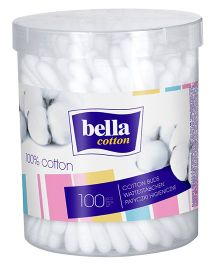 Bella Cotton Buds Round Box - 100 Pieces
