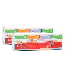 Bella Baby Hygienic Tissues 10 Pieces - Pack of 8