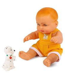 Speedage Sunny Baba Doll With Pet Puppy - Yellow