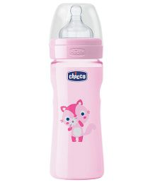 Chicco Feeding Bottle Animal Print Pink - 250 ml