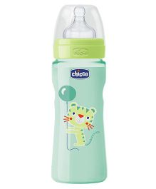 Chicco Feeding Bottle Lion & Balloon Print Green - 330 ml