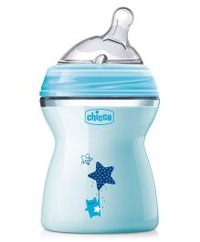 Chicco Natural Feeling Adjustable Flow Feeding Bottle Blue - 250 ml