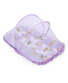 Mee Mee Mattress With Pillow And Mosquito Net - Purple