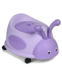 Bug Design Potty Seat With Wheels - Purple