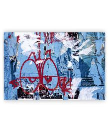 Ambbi Collections Table Mat Printed Blue - Pack of 6