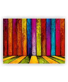 Ambbi Collections Table Mat Wooden Print Multi Color - Pack of 6