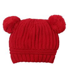 Whistling Winds Woolen Cap - Red