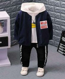 Aww Hunnie Smart Hoodie With Jacket & Pants - Blue