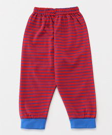 Ollypop Full Length Striped Lounge Pant - Red & Blue