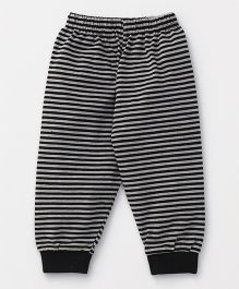 Ollypop Full Length Striped Lounge Pant - Black