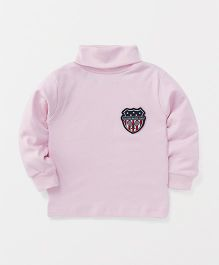Ollypop Full Sleeves T-Shirt Baddy Club Patch - Pink
