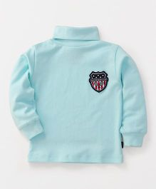 Ollypop Full Sleeves T-Shirt Baddy Club Patch - Mint Green