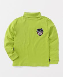 Ollypop Full Sleeves T-Shirt Baddy Club Patch - Light Green