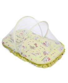 Mee Mee Baby Mattress Set With Mosquito Net And Pillow - Yellow