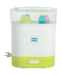 Mee Mee Advanced 3 in 1 Steam Sterilizer Bottle & Food Warmer - Yellow & White