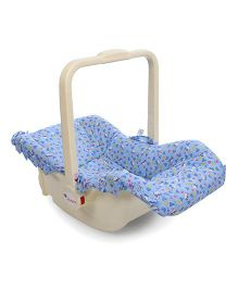 Infanto Baby Love Carry Cot Cum Rocker Teddy Bear Print 045 - Sky Blue