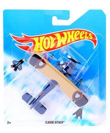Hot Wheels Classic Attack Airplane Model Toy - Blue