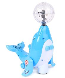 Playmate Dolphin With Light Projection - Sky Blue
