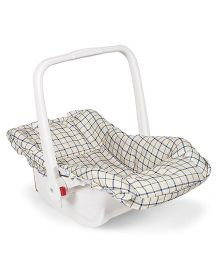 Baby Carry Cot Cum Rocker - Beige & Blue
