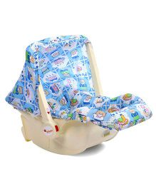 Infanto Baby Love Carry Cot Cum Rocker Teddy Print - Blue