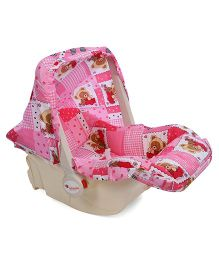 Infanto Baby Love Carry Cot Cum Rocker Teddy Print - Pink