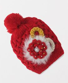 Babyhug Baby Winter Cap - Red