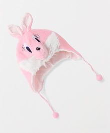 Babyhug Winter Cap Bunny Face - Pink