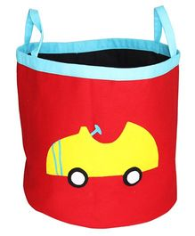 Kadambaby Storage Bin Car Applique - Red