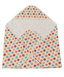 Kadambaby Hooded Towel Polka Dots - Multicolor