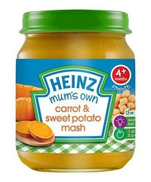 Heinz Carrot & Sweet Potato Mash - 120 gm